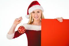 Cartaz e quinquilharia guardando louros bonitos festivos Imagem de Stock