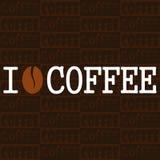 Cartaz eu amo o café Ilustração Stock