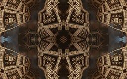 Cartaz fantástico abstrato épico ou fundo Ideia futurista do interior do fractal Teste padrão no formulário das setas imagem de stock