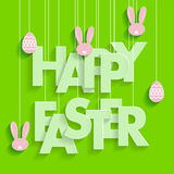 Cartaz feliz de Easter Foto de Stock Royalty Free