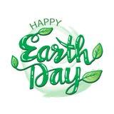 Cartaz feliz do Dia da Terra Imagem de Stock