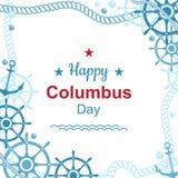 Cartaz feliz do Dia de Colombo Fotografia de Stock