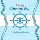 Cartaz feliz do Dia de Colombo Foto de Stock Royalty Free