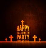 Cartaz feliz do partido de Dia das Bruxas Fotos de Stock Royalty Free