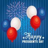 Cartaz feliz dos presidentes Dia ilustração royalty free