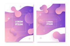 Cartaz fluido do estilo Composição dinâmica das formas ilustração royalty free