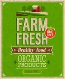 Cartaz fresco da exploração agrícola do vintage. Imagens de Stock