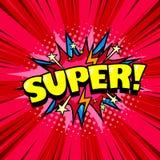 Cartaz fresco do estilo cômico, bolha do discurso do super-herói Imagens de Stock