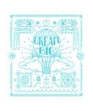 Cartaz impressionante no estilo linear na moda Citações grandes ideais Imagens de Stock Royalty Free