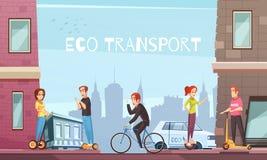 Cartaz individual da cidade do transporte de Eco ilustração do vetor