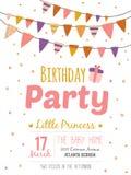 Cartaz inspirado do feliz aniversario para a menina Fotografia de Stock