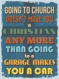 Cartaz inspirador das citações do vintage retro Ilustração do vetor Imagem de Stock