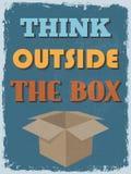 Cartaz inspirador das citações do vintage retro Ilustração do vetor Imagens de Stock