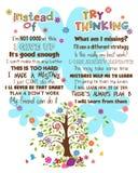 Cartaz inspirador das palavras Foto de Stock Royalty Free