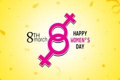 Cartaz internacional do dia do ` s das mulheres Sinal da mulher Molde do projeto do origâmi Dia feliz do `s da matriz Fotos de Stock Royalty Free