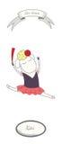 Cartaz Kitri do bailado ilustração royalty free