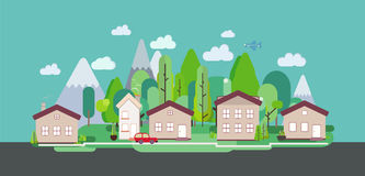 Cartaz liso da Web do turismo da paisagem da natureza do projeto Imagens de Stock