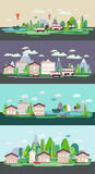 Cartaz liso da Web do turismo da paisagem da natureza do projeto Fotografia de Stock