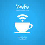Cartaz livre do café do wifi Fotografia de Stock Royalty Free