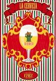 Cartaz mexicano da cerveja Fotografia de Stock