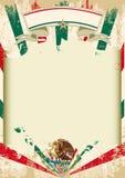 Cartaz mexicano sujo dos raios de sol ilustração royalty free
