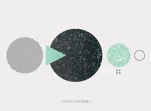 Cartaz na moda com textura geométrica das formas Fotos de Stock