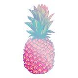 Cartaz na moda criativo da arte do abacaxi Imagens de Stock Royalty Free