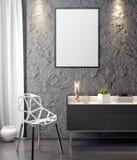 Cartaz no interior, do modelo ilustração 3D de um projeto moderno Foto de Stock Royalty Free