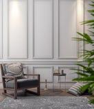 Cartaz no interior, do modelo ilustração 3D de um projeto moderno Foto de Stock