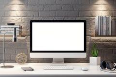 Cartaz no interior, do modelo ilustração 3D de um projeto moderno Imagens de Stock Royalty Free