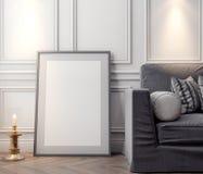 Cartaz no interior, do modelo ilustração 3D de um projeto moderno Fotos de Stock Royalty Free
