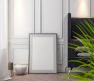 Cartaz no interior, do modelo ilustração 3D de um projeto moderno Fotos de Stock