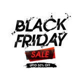 Cartaz ou bandeira da venda de Black Friday Fotos de Stock Royalty Free