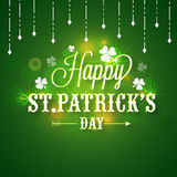 Cartaz ou bandeira para a celebração do dia de St Patrick Imagens de Stock Royalty Free