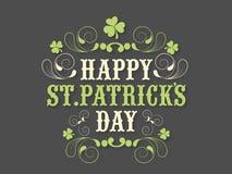 Cartaz ou bandeira para a celebração do dia de St Patrick Imagem de Stock Royalty Free