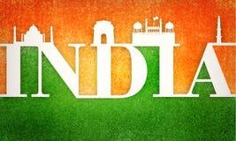 Cartaz ou bandeira para o Dia da Independência indiano Imagem de Stock Royalty Free