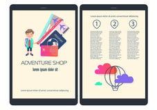 Cartaz ou brochura com o assunto do curso, feriado com a imagem do passaporte Fotos de Stock