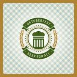 Cartaz ou cartão do vintage de Oktoberfest Foto de Stock Royalty Free
