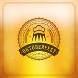 Cartaz ou cartão do vintage de Oktoberfest Imagem de Stock Royalty Free