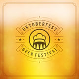Cartaz ou cartão do vintage de Oktoberfest Foto de Stock
