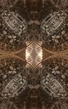 Cartaz ou fundo fantástico abstrato Ideia futurista do interior do fractal Teste padrão arquitetónico 3d Fotos de Stock