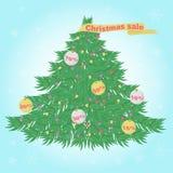 Cartaz para as vendas do Natal ilustração royalty free