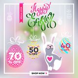 Cartaz para easter_18 feliz Fotos de Stock Royalty Free
