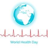 Cartaz para o dia de saúde de mundo Fotos de Stock Royalty Free
