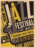 Cartaz para o festival de jazz Fotos de Stock Royalty Free