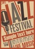 Cartaz para o festival de jazz Imagem de Stock Royalty Free