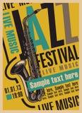 Cartaz para o festival de jazz Fotos de Stock