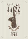 Cartaz para um jazz Foto de Stock Royalty Free