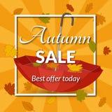 Cartaz para a venda do outono Foto de Stock Royalty Free