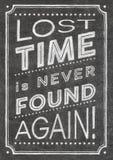 Cartaz perdido do tempo imagens de stock